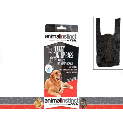 Doggy Clean Up Bags 50 Pack 22x8cm