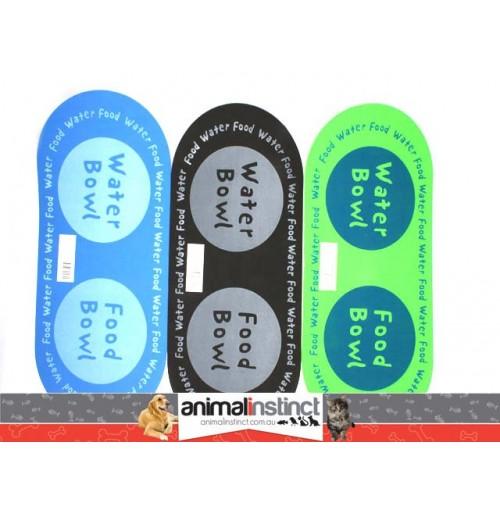 Pet Food & Water Bowl Mat 62x28cm
