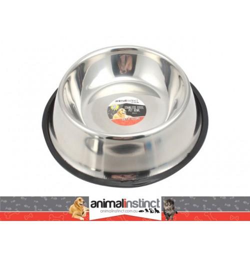 Pet Dish S/Steel Non Slip 30cm 1.8l