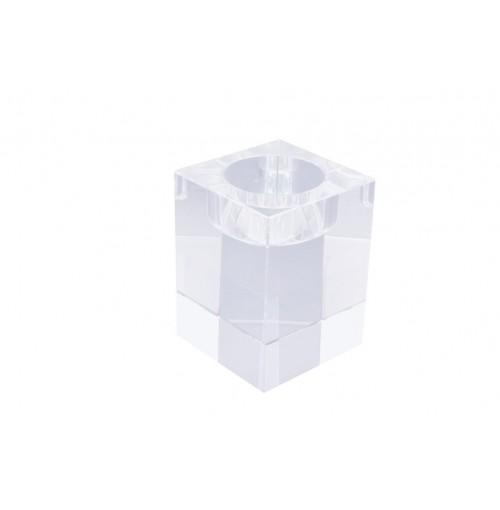 Crystal Cube T/Light Holder B 6x6x8cm