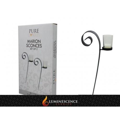 Marion Sconces S/2 38x18cm Incl Glass