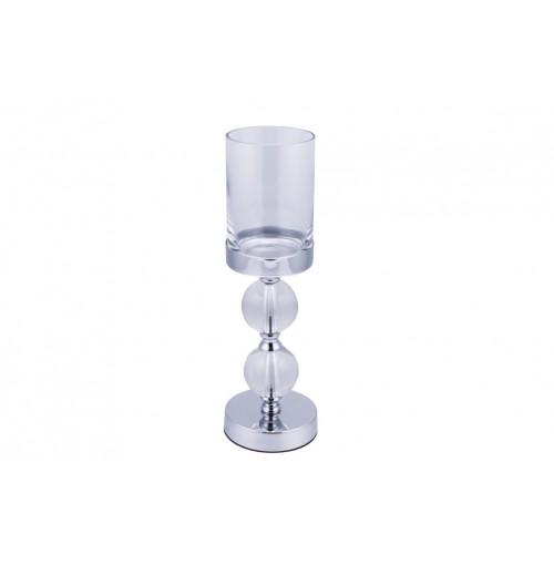 Elizabeth Two Ball Hurricane Lamp 12x38cm