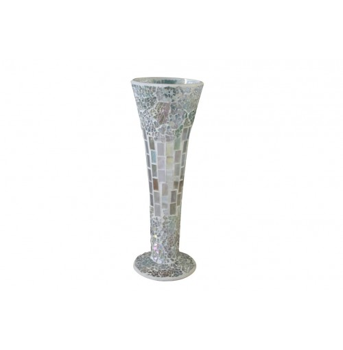 Natural Mosaic Vase Sml 11x30cm