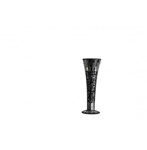 Dark Mosaic Vase Shape Sml Hurricane D/11cm H/30cm