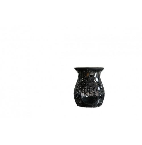 Dark Mosaic Candle Holder Hurricane D/10cm H/9cm