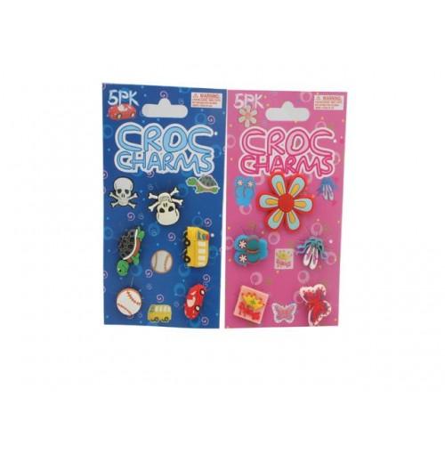 Charms For Shoes/Bracelets Crocs Silicone 5pk