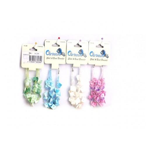 Bracelet Shell &Amp; Bead Kore Surfwear 17cm 3pk 4clrs