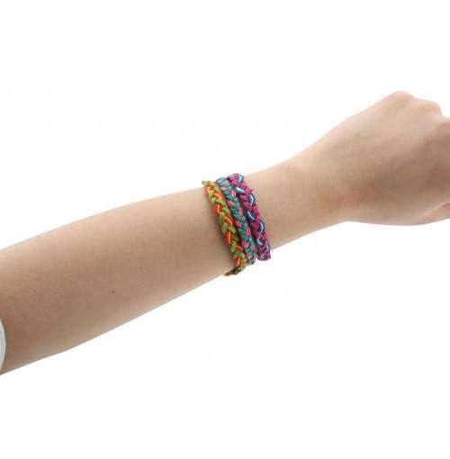 Bracelet Leather &Amp; Wax Cotton  Accent On Disp