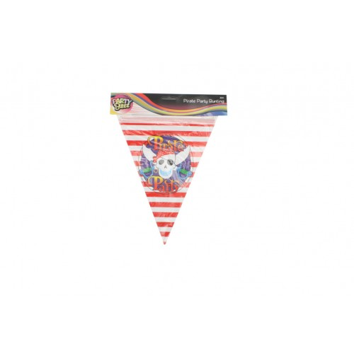 Pirate Party Bunting 4m Flag Size 21 X 28cm