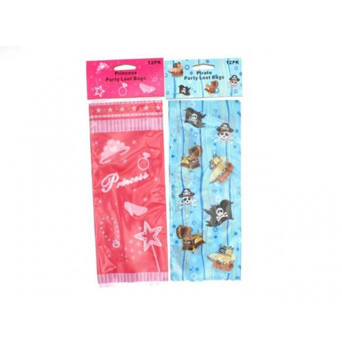 Loot Bags Pirate & Princess 12pk