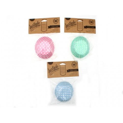 Instyle Patty Cases 50x30mm 100 Pk Pink Blue Mint Dot