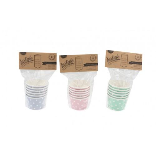 Instyle Gelati Cups 85x70x51 Pk 6 Pink Blue Mint Dot