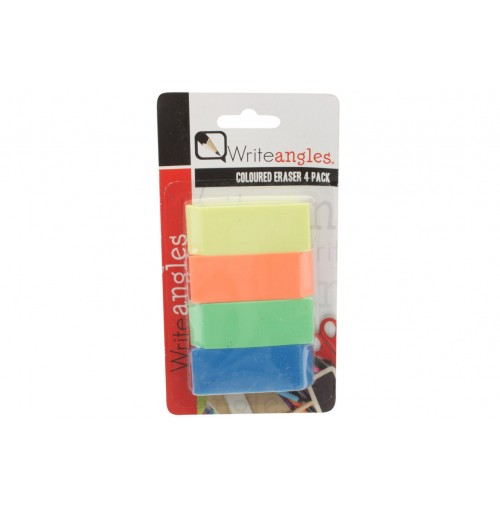 4 Pcs Eraser Colored