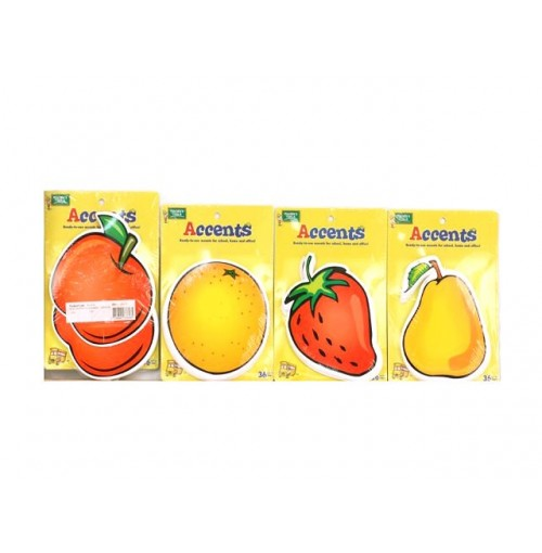 Fruit Shaped Flash Cards 4 assorted Designs 13x14cm