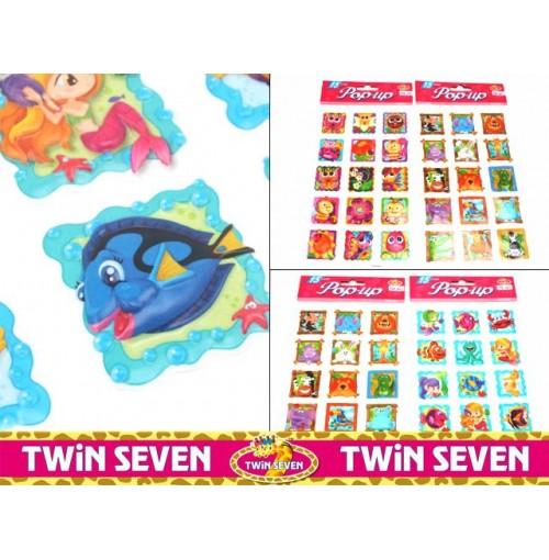 Pop Up 3d Stickers Kids Fun Animals