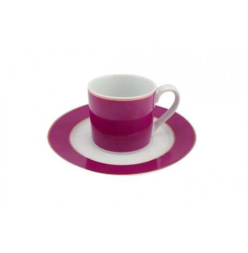 Persia Pink Espresso Cup &Amp; Saucer Can Shape
