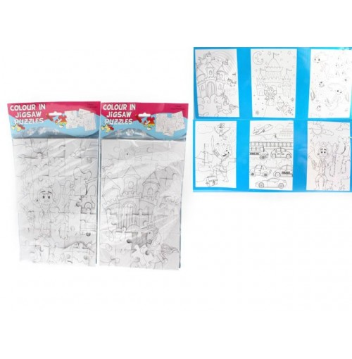 Jigsaw Puzzle Colour In 3 Sheet