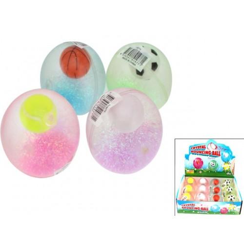 Bouncing Ball Flashing Crystal Sports