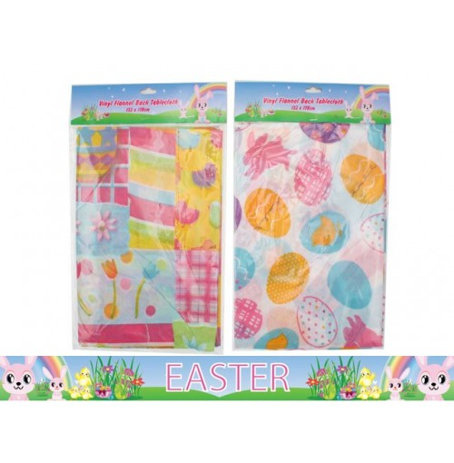 Easter Tablecloth Flannel Back 132x178cm