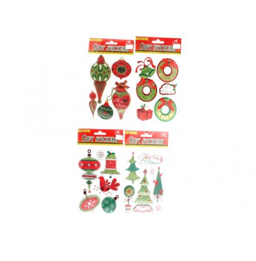 Xmas Stickers 3d Embellished Glitter