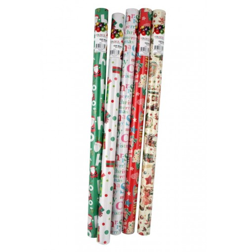 Wrapping Paper 4mx70cm 6 Asst Designs In Display