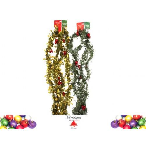 Garland 2.7m Holly Decoration