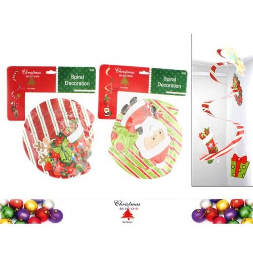 Dizzy Dangler 2pk Reindeer &Amp; Santa
