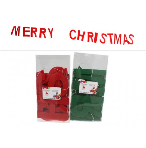 Xmas Banner Felt 2m In Acetate Box Colrs