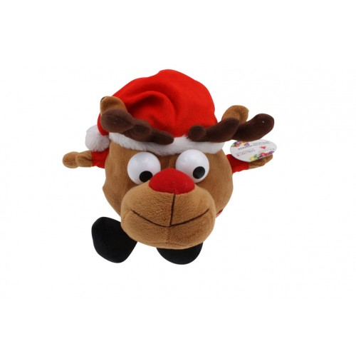 Xmas Plush Reindeer Crazy Eyes W/Music &Amp; Motion Ic