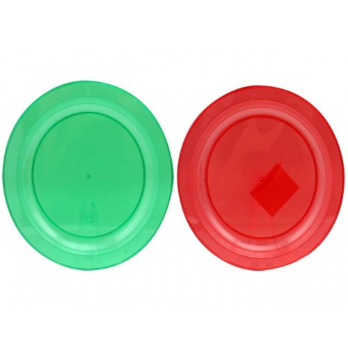 Xmas Plate 27cm Plastic