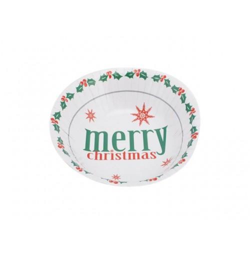 Merry Xmas Paper Bowl 10pk