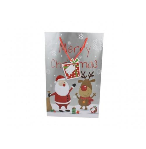 Santa + Rudolph Gift Bag X Lge Asst