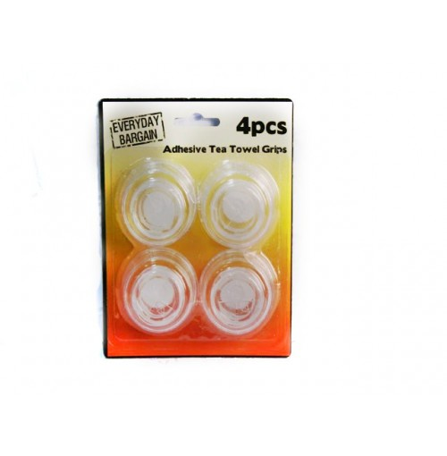 Tea Towel Grips 4pc Adhesive