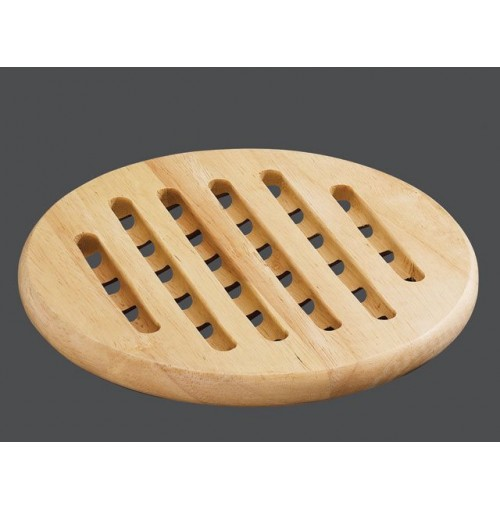 Round Wood Trivet
